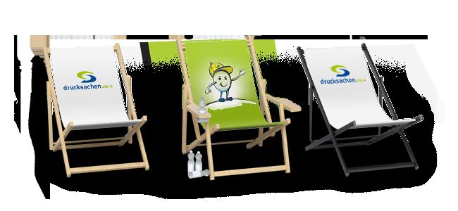 Drucksachen.Store - Liegestühle aus Holz